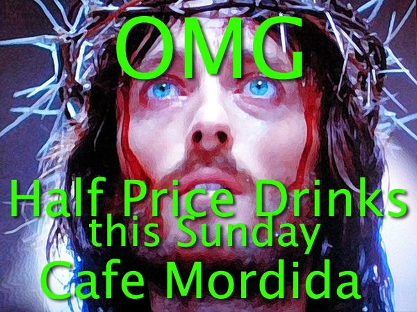 Half Price Drinks on Sunday