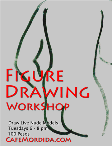 Nude figure drawing class in Puerto Vallarta